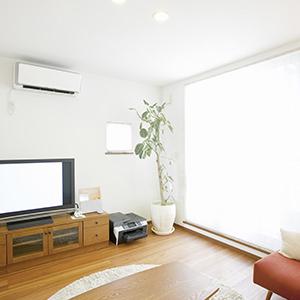 エアコン付きの賃貸住宅